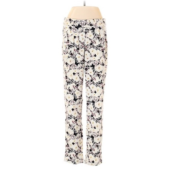 High Waisted Floral Joggers